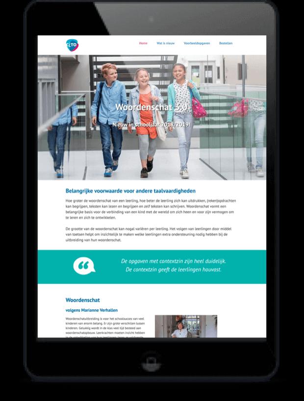 websites ook geschikt voor Tablet voor klant in Arnhem